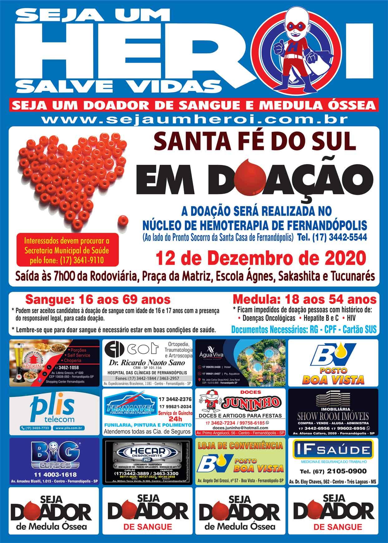 Santa Fé do Sul em Doação 12 de Dezembro de 2020